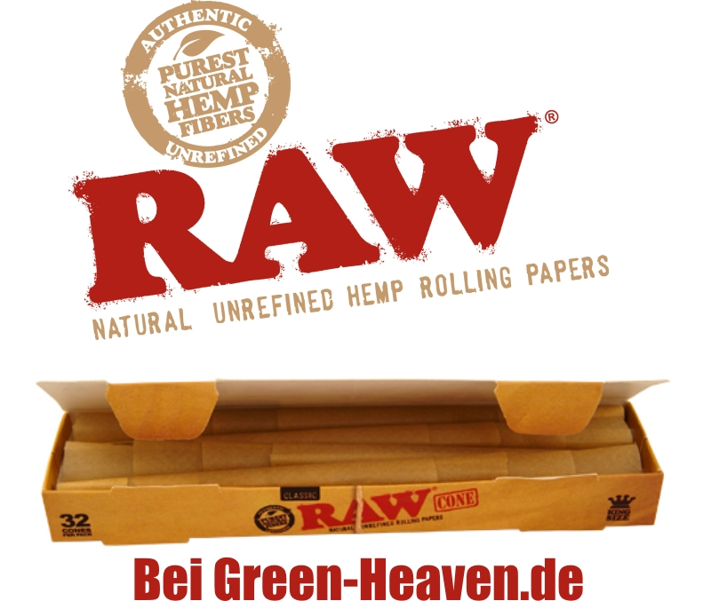 Raw Papers und Cones